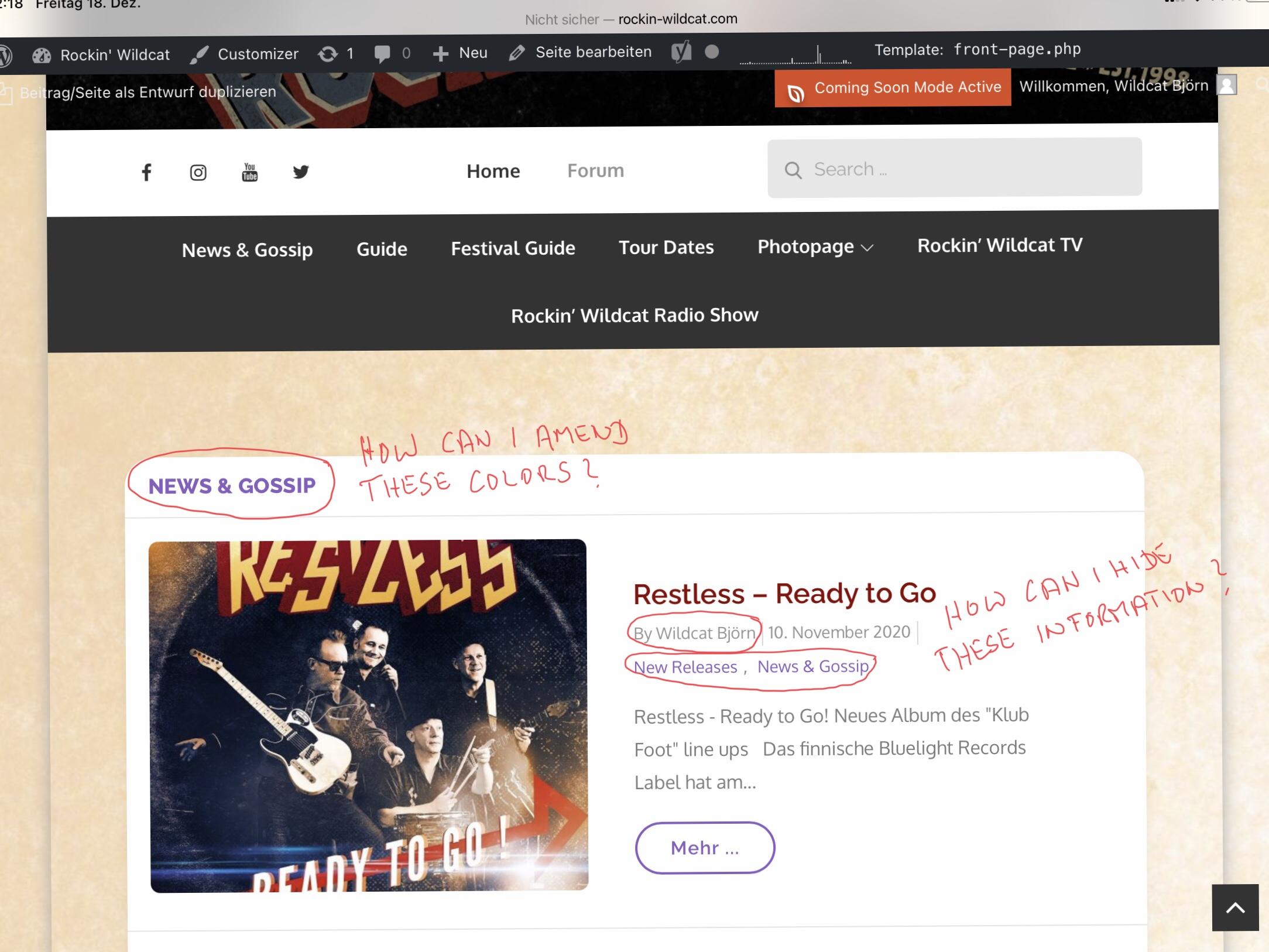 Frontpage, Screenshot 1 - Blog Section