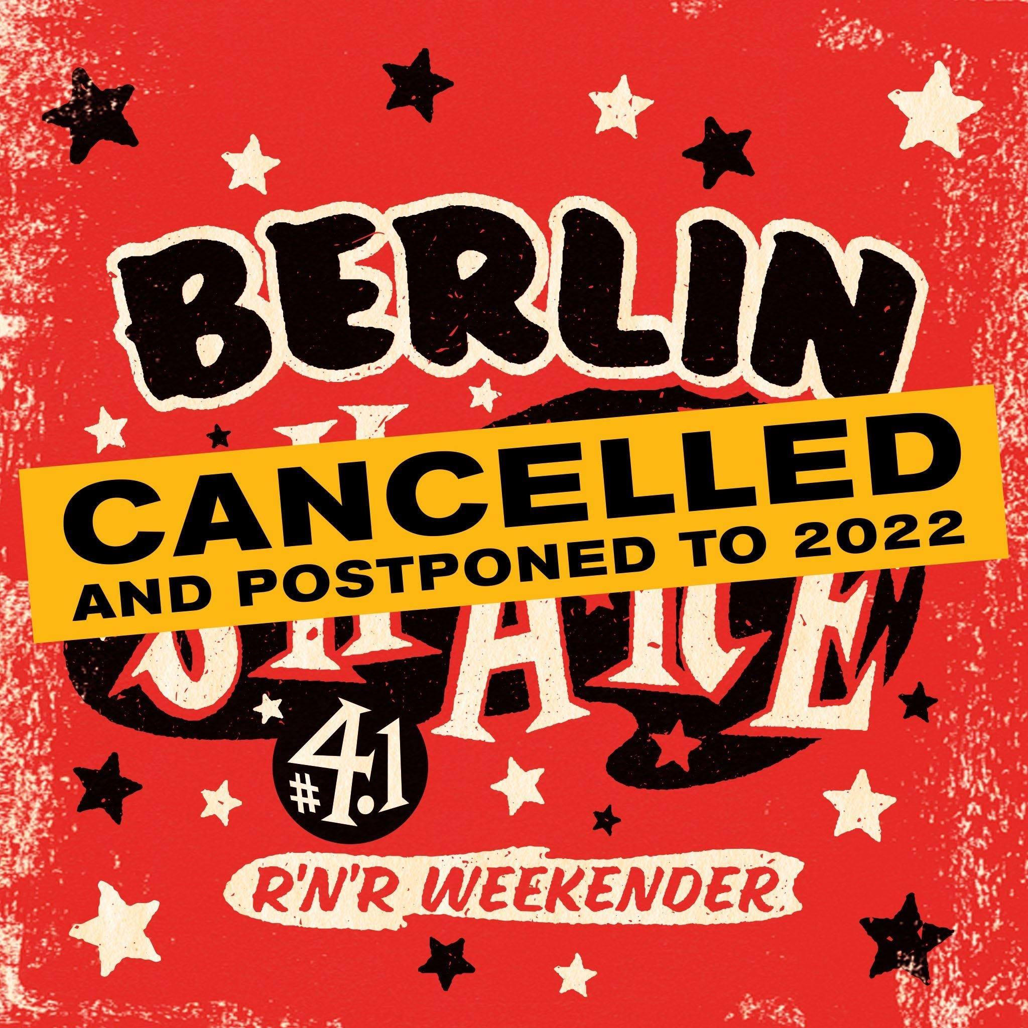 Berlin Shake postponed to 2022