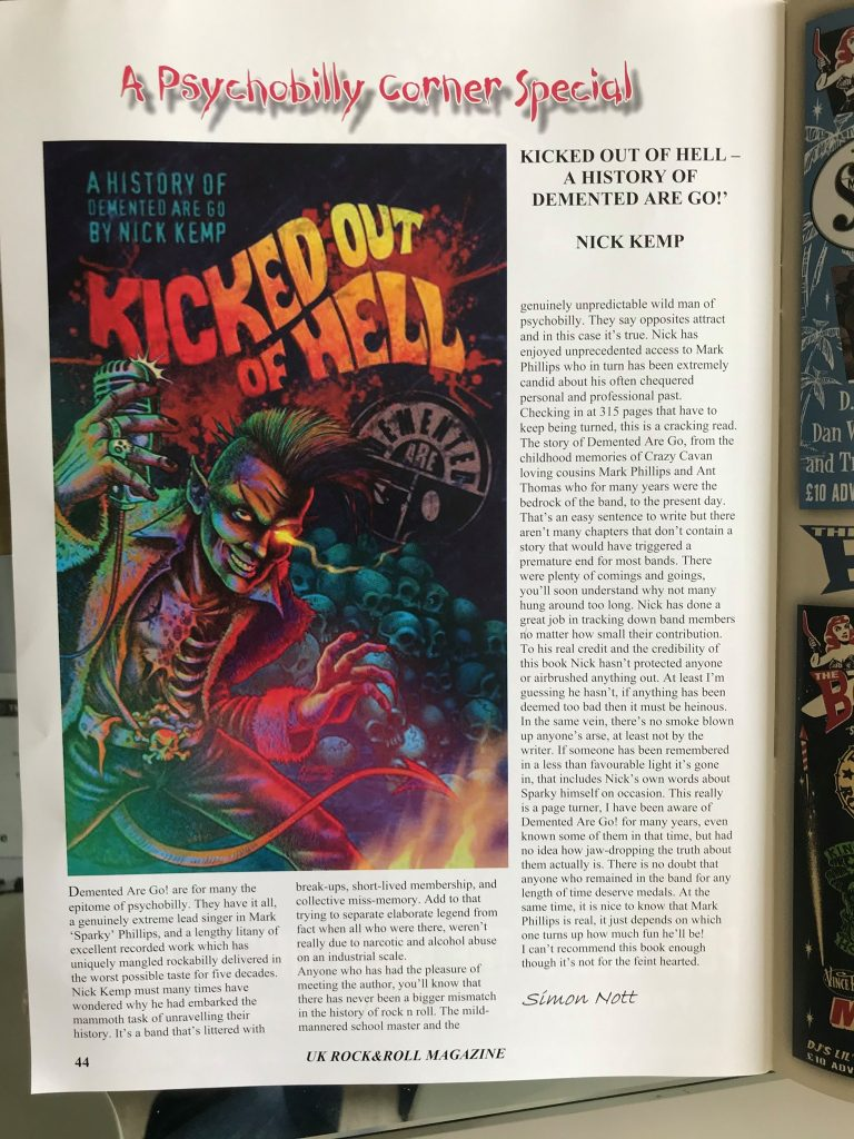 Kicked Out of Hell: A History of Demented Are Go - Review from Simon Nott